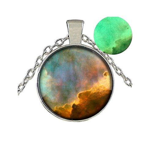 glowing Necklace Nebula Necklace Cosmic Pendant Jewelry - Galaxy Pendant