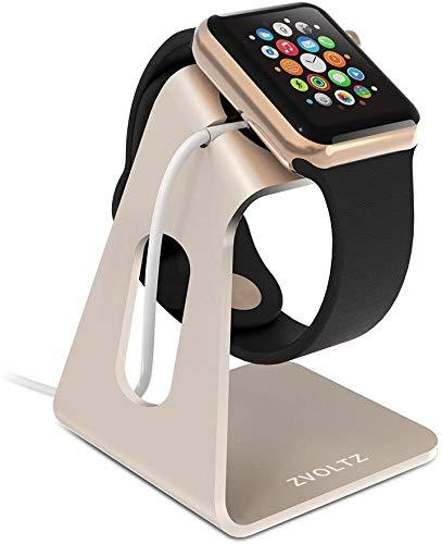 ZVOLTZ Smartwatch Stand Compatible with Apple Watch Stand for 44mm/40mm Series 6/SE/5/4 and 42mm/38mm Series 3/2/1 - Gold