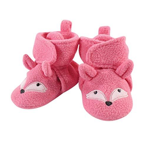 Hudson Baby Unisex Cozy Fleece Booties, Miss Fox, 0-6 Months US