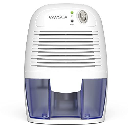 VAV SEA Small Electric Dehumidifier, 1200 Cubic Feet (215 sq ft) Portable Mini Dehumidifier Quiet Use for High Humidity in Home, Bathroom, Bedroom, Kitchen, Basements, Wardrobe Closet, Office, RV…