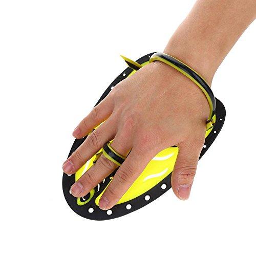 Hand Fins, Hand Paddles, Professional Swim Training Paddles Adjustable Diving Training Hand Fin Flippers Flat Paddles Swimming Training Aid for Men Women Children(#2)