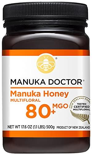 MANUKA DOCTOR - MGO 80+ Manuka Honey Multifloral, 100% Pure New Zealand Honey. Certified. Guaranteed. Non-GMO (8.75oz)