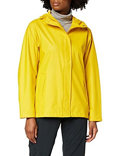 Helly Hansen Women's Moss Hooded Waterproof Windproof Raincoat, 344 Essential Yellow, Medium