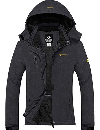 GEMYSE Women's Mountain Waterproof Ski Snow Jacket Winter Windproof Rain Jacket (Graphite Grey,Medium)