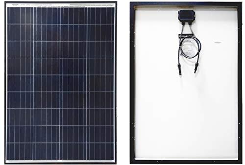 Texas Solar 100 Watt Polycrystalline 100W 12V Poly Solar Panel Module RV Marine Boat Yacht Off GridWaterproof Hail-Proof