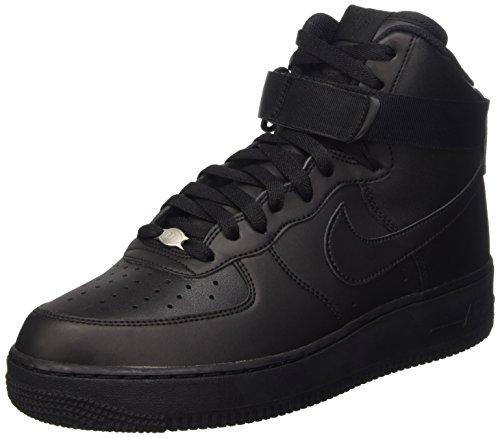 Nike Men's Air Force 1 High 07 Basketball Shoe, FLT Black, 9