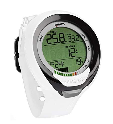 Mares Puck Pro Plus Dive Computer Wrist Watch, White Black (414135-WHBK)