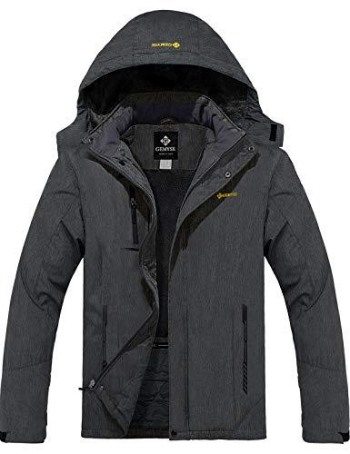 GEMYSE Men's Mountain Waterproof Ski Snow Jacket Winter Windproof Rain Jacket (Graphite Grey, L)