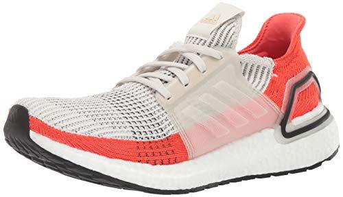 adidas Men's Ultraboost 19 Running Shoe, raw White/Active Orange, 12 M US