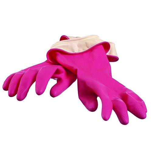 Casabella Premium Waterblock Gloves, Large, 1-Pair, Pink