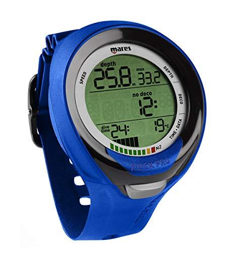 Mares Puck Pro Plus Wrist Dive Computer - Black/Blue