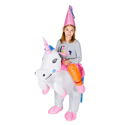 Bodysocks Kids Inflatable Unicorn Fancy Dress Costume