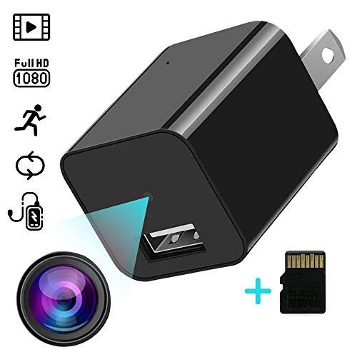 Small Security Camera, Mini Camera, Nanny Cam, Cameras for Home Security, Pet Cam, USB Charger Camera, Wireless, 32GB Card, Motion Detection, Easy to Use, No Sound