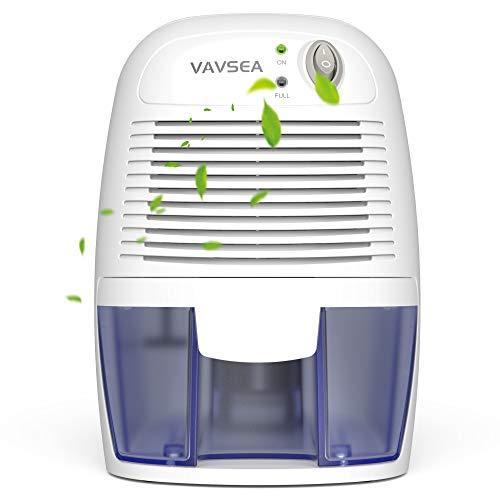 VAVSEA Electric Small Dehumidifier, Compact 500ml (17 oz) Capacity, Portable Mini Dehumidifier Quiet Use for High Humidity in Home, Bathroom, Bedroom, Kitchen, Basements, Wardrobe Closet, Office, RV