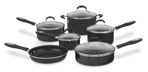 Cuisinart 55-11BK Advantage Nonstick 11-Piece Cookware Set, Black