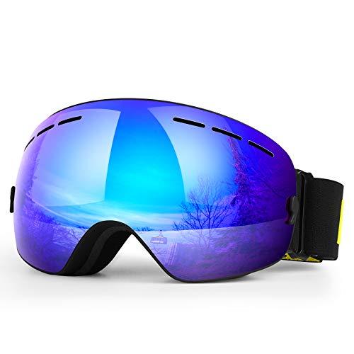 HONGDAK Ski Goggles Snow Snowboard Snowmobile Men Women Youth Kids Anti Fog Winter Sports Snowboarding Skiing Goggles