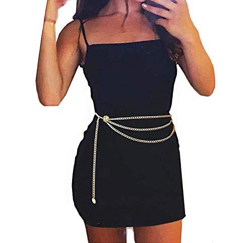 40 Inch Women L Size Long Tassel Waist Chain Belt Multilayer Body Belly Chain for Dress
