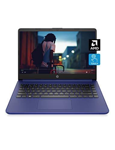 HP 14 Laptop, AMD 3020e, 4 GB RAM, 64 GB eMMC Storage, 14-inch HD Touchscreen, Windows 10 Home in S Mode, Long Battery Life, Microsoft 365, (14-fq0040nr, 2020)