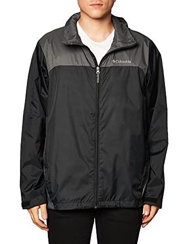 Columbia Men's Glennaker Lake Front-Zip Jacket, Black/Grill, Large