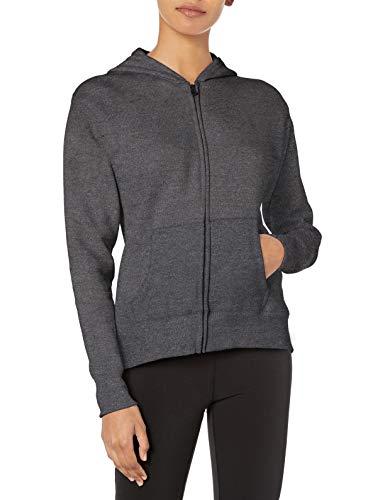 Hanes womens ComfortSoft EcoSmart Women's Full-Zip Hoodie Sweatshirt Slate Heather Large