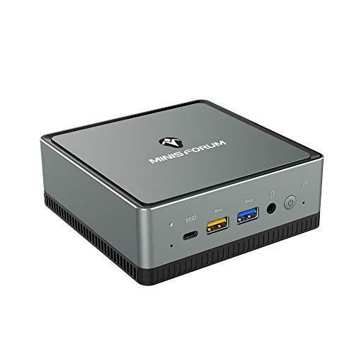 Mini PC AMD Ryzen 5 Pro 2500U | 16 GB RAM 512 GB SSD | Radeon Vega 8 Graphics | Windows 10 Pro | Intel WIFI6 AX200 BT 5.1 | 4K HDMI/Display/USB-C |2X RJ45 Gigabit | 4X USB 3.1|Small Form Factor