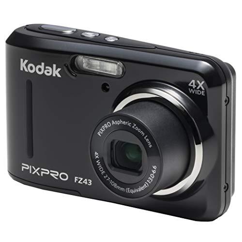 Kodak PIXPRO Friendly Zoom FZ43-BK 16MP Digital Camera with 4X Optical Zoom and 2.7' LCD Screen (Black)