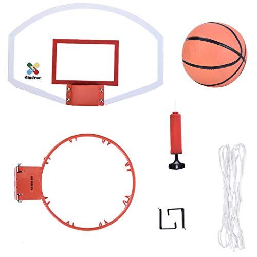 Dowager Mini Basketball Hoop and Balls,Over The Door Plastic Toy Backboard 23.2x16.5x3.5in,Congerate Slam Dunk Bedroom Bathroom Toilet Office Desktop Mini Basketball Decompress Game US Stock