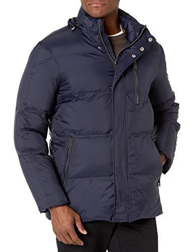 Cole Haan Men's Packable Down Jacket, Navy, X-Large