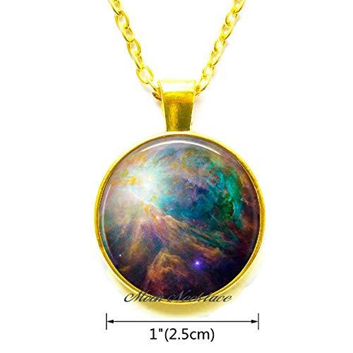 CrescentMoonNecklace Orion Nebula Pendant,Nebula Jewelry,Astronomy Pendant,Cosmic Jewelry,Cosmic Pendant Outer Space Jewelry nebula-ZE249
