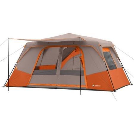 Ozark Trail 11 Person 3 Room 14' x 14' Instant Cabin Tent (Orange)