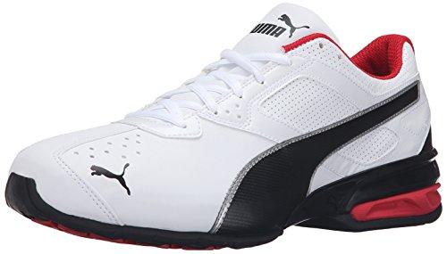 PUMA Men's Tazon 6 FM Puma White/ Puma Black/ Puma Silver Running Shoe - 10.5 D(M) US