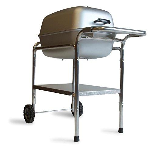 PK Grills PK Original Outdoor Charcoal Portable Grill & Smoker Combination, Silver