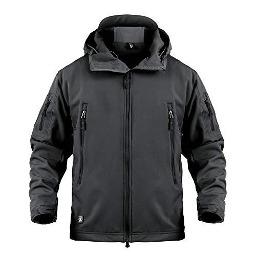 ANTARCTICA Men's Mountain Waterproof Ski Jacket Outdoor Sports Windproof Rain Jacket (Black, XL)