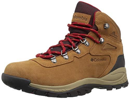 Columbia womens Newton Ridge Plus Waterproof Amped Hiking Boot, Elk/Mountain Red, 8.5 US