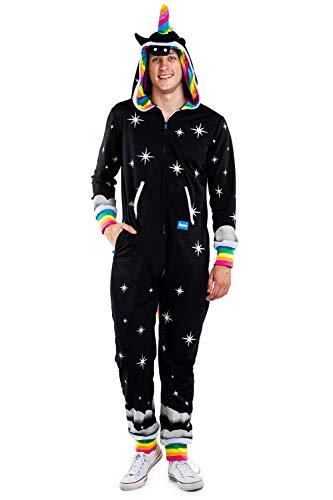 Tipsy Elves Men's Night Mare Costume - Dark Unicorn Halloween Jumpsuit Size L