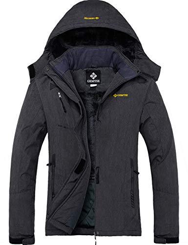 GEMYSE Women's Mountain Waterproof Ski Snow Jacket Winter Windproof Rain Jacket (Graphite Grey, L)