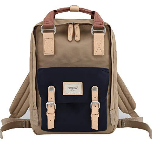 Himawari School Functional Travel Waterproof Backpack Bag for Men & Women   14.9'x11.1'x5.9'   Holds 13-in Laptop (HIM-57#)