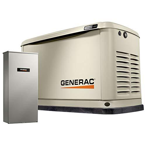 Generac G007175 13 kW Home Standby Generator, Bisque