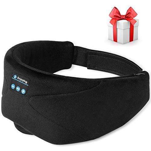 Sleep Headphones, 2020 Wireless 5.0 Bluetooth Eye Mask Music Sleep Mask Noise Reduction Bluetooth Headphones, HD Stereo Sound, Travel Music Play Built-in Speakers Microphone Handsfree