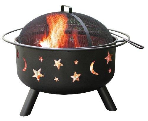 Landmann 28345 Big Sky Stars and Moons Firepit, Black