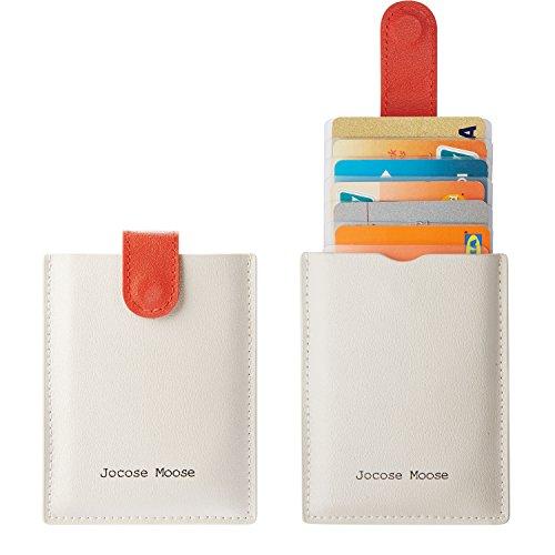 RFID Credit Card Holder Wallet Leather Minimalist Slim Wallets Front Pocket Wallet for Men Women (Ash Gery)