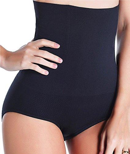 Women Waist Trainer Tummy Control Panties Body Shaper High Waisted Shapewear Briefs Butt Lifter Slimming Corset Seamless (Black, XL/XXL)