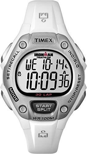 Timex Women's Ironman 30-Lap Digital Quartz Mid-Size Watch, White - T5K515