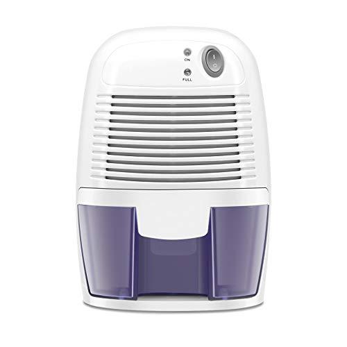Electric Mini Dehumidifier, Compact 500ml (17 oz) Capacity, 2200 Cubic Feet (205 sq ft) Portable Quiet Small Dehumidifiers Use for Home, Bathroom, Bedroom, Kitchen, Basements, Wardrobe Closet, RV