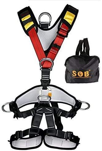 YXGOOD Treestand Harness, Tree Working Safety Belt, Climbing Harness for Garden Art Clip, Tree Clip, Firefighting On Tree (Full Body Harness)