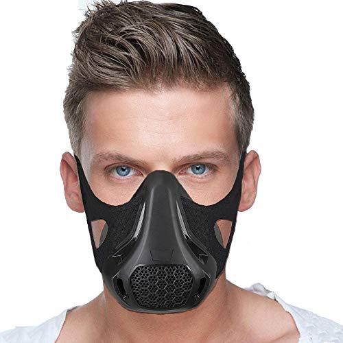 IVSUN Workout Masks 24 Breathing Levels Elevation mask Running Training Fitness Sports mask, high Altitude Exercise Gym Masks for Biking//Jogging/Endurance/Resistant/Cardio (5 Pieces Flux Values)