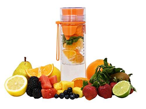 ARAD Water Bottle, Sports Water Bottles, Fruit Infuser Water Bottle, Alternative to Glass Water Bottle, Large Water Bottle, Durable & Leak-Proof Sports Bottle, Orange (32 oz)