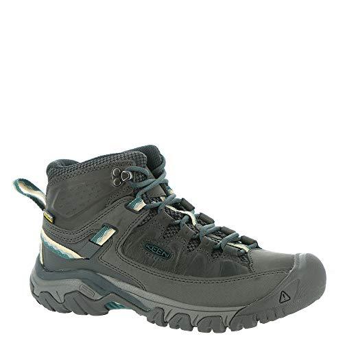 KEEN Women's Targhee 3 Mid Waterproof Hiking Boot, Magnet/Balsam, 10