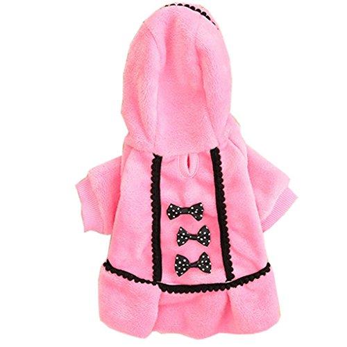 IEason Pet Clothes, 2017 Dog Coat Jacket Pet Supplies Clothes Winter Apparel Puppy Costume (S, Pink)