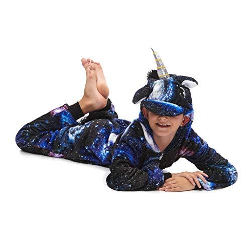 LMYOVE Kids Unisex Animal Unicorn Costume Onesie Pajamas for Boys & Girls (120, Galaxy)